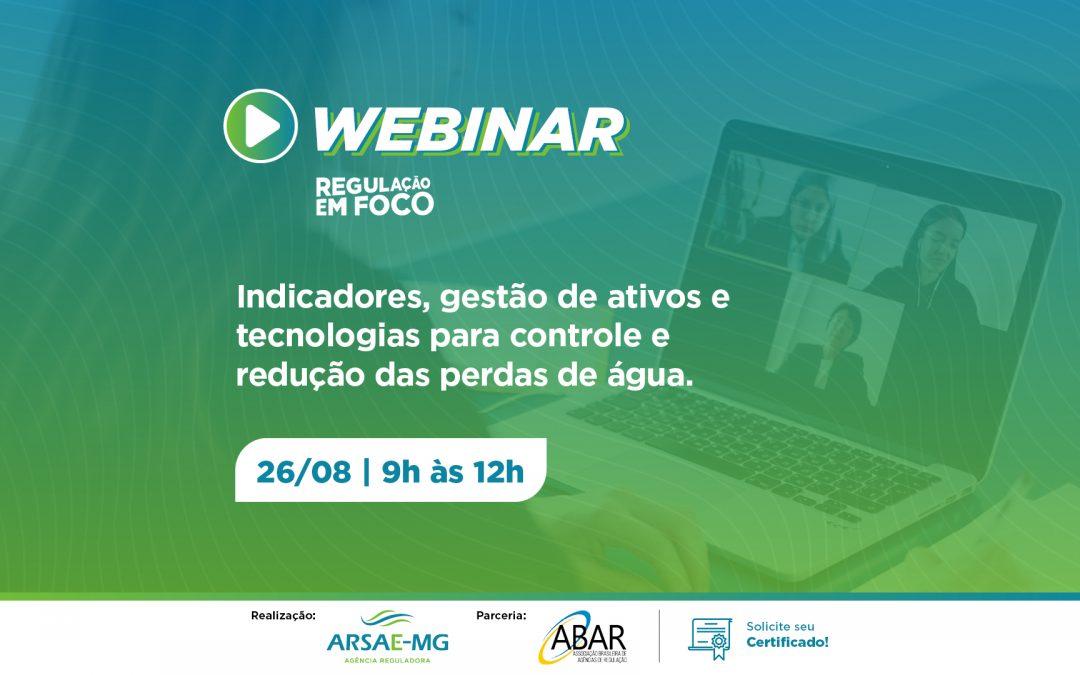 ABAR e Arsae-MG promovem webinar sobre perdas no abastecimento de água